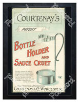 Historic Courtenay & Co Worcestershire Sauce Holder Advertising Postcard
