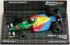 WOW EXTREMELY RARE Benetton B188 Ford #19 Nannini Imola 1988 1:43 Minichamps