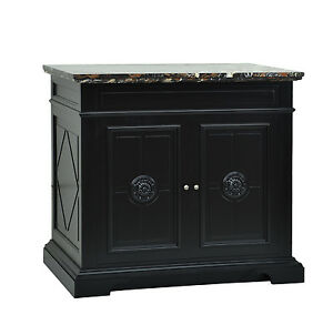 Sink Vanity Chest Italian Old World Style With Black Satin Painted Finish