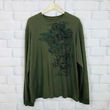 MMA Elite Mens Size 2XL Green Thermol Shirt Long Sleeve Graphic Tee
