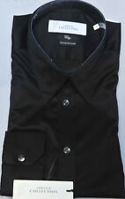 NWT!! $285 VERSACE  Collection Shirt Black Color Sz 41/16