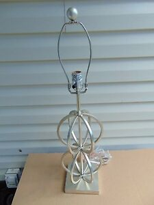 Dimond Lighting Silver Leaf Donora Collection Table Lamp Missing Shade D1494
