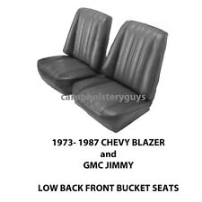 CHEVROLET BLAZER & GMC JIMMY FACTORY REPLACEMENT (LOWBACK) SEAT COVERS  1973-87