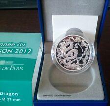 COFFRET 10 EUROS ARGENT ANNEE DU DRAGON 2012 BOITE CERTIFICAT ETUI @ TOP RARE !