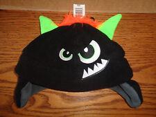 NWT Wonderkids - Boys Winter Black Monster - Creature  Hats - OSFM