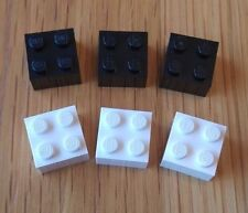 LEGO Fridge / Noticeboard Magnets x 6 Black and White - Ideal Gift AFOL