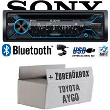 Sony Autoradio für Toyota Aygo KFZ PKW Auto Radio Bluetooth CD MP3 USB Einbauset