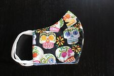 FACE MASK SKULL SUGAR 100 %  HANDEMADE IN USA ADULT SIZE