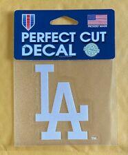 "LA Los Angeles Dodgers 4"" x 4"" Logo Truck Car Auto Window Die Cut Decal - White"