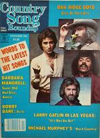 Country Song Roundup Yearbook 1981 Music Magazine Larry Gatlin - Oak Ridge Boys