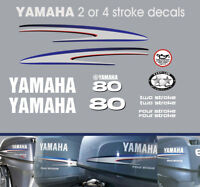 YAMAHA 80hp 2 stroke and 4 stroke outboard decals