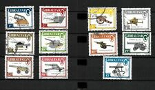 Gibraltar 1987 guns complete set to £1 used  (G132)