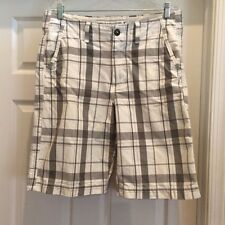 Fabulous American Eagle Men's Black and While Plaid Shorts Size 32-Worn Once!
