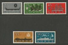 Norway 1960 Shipping Industry--Attractive Transportation Topical (382-86) MH
