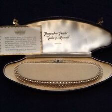 Pompadour Simulated Pearls Double String With Original Box 1950s vintage
