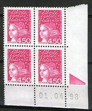 FRANCE N° 3096 NEUF XX - COIN DATE DU 1-4-98 - MARIANNE DE LUQUET