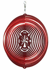 Swen Products Fire Rescue Circle Swirly Metal Wind Spinner