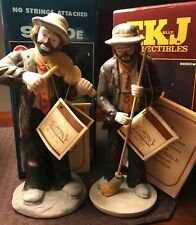 2 Emmitt Kelly Jr Figurines With Original Box And Tags Great Condition