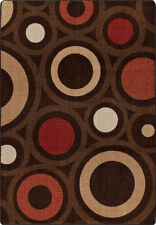 "5x8 Milliken In Focus Chocolate Modern Retro Area Rug - Approx 5'4""x7'8"""