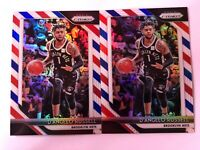D'Angelo Russell 2018-19 Panini Prizm Basketball Red/White/Blue Prizm X2