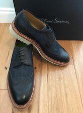Oliver Sweeney Men's Clopton Black/Blue Lace Up Casual Shoes Size UK 8 EU 42