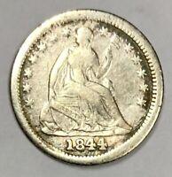 1844 Liberty Seated Half Dime Very Fine (JR-1)