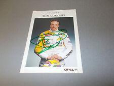 Tom Coronel Opel Team WTS signed signiert autograph Autogramm auf Autogrammkarte