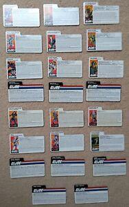 Hasbro GI Joe Cobra Late 90s TRU Exclusive Filecards (choose your character)