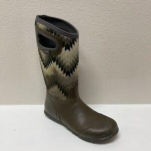 Bogs Classic High Womens Mud Garden Muck Boots  Size 10 Gray Black White Euc!