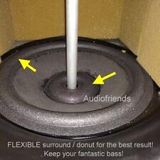 KEF RR104.2, RR105.3 - 4 x FLEXIBLE surrounds + 4 x FLEXIBLE dustcaps 'donut'