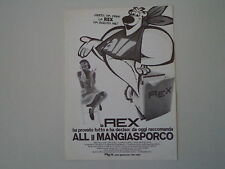 advertising Pubblicità 1970 LAVATRICE REX e ALL