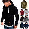 Men's Winter Warm Hoodies Slim Fit Hooded Sweatshirt Outwear Sweater Coat Jacket