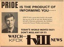 1970 TV AD~BEN STRICKLAND WEATHER on KFDX in WICHITA FALLS,TEXAS~News Promo