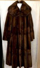 Primafur Fur Coat Long Light Mahogany Natural Mink Large Shawl Collar Size Large