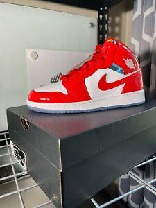 Nike Air Jordan 1 Mid Barcelona Sweater GS Size 7Y/ Women's 8.5 Shoes DC7248-600