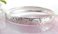 Armreif Silber 925 mit Muster Umfang 17,5 cm Breite 8,5 mm  Sterlingsilber sa120