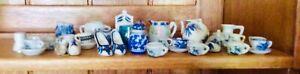 Mixed Lot Blue & White Porcelain Ornaments some delft clogs vase pot & more
