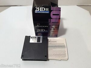 "Imation IBM 2HD 1.44MB 3.5"" Floppy Diskettes LOT OF 8 PREOWNED"