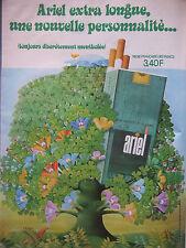 PUBLICITÉ DE PRESSE 1973 CIGARETTES ARIEL EXTRA LONGUE MENTHOLÉE - ADVERTISING