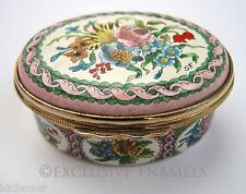 Halcyon Days Enamels Dubarry Flowers Enamel Box