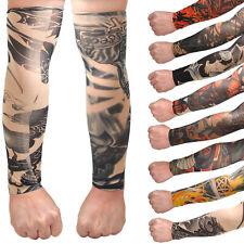 Temporary Fake Tattoo Slip On Stretch Seamless Arm Sleeves Stockings