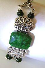 Zodiac Jewelry Natural Peridot Emerald Gem Gemini Libra Luck Money Love Bracelet