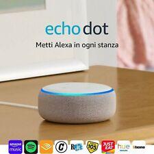 Echo Dot (3ª generazione) - Altoparlante intelligente con Alexa - Tessuto grigio