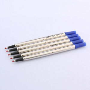 luxury High quality 5pc blue 0.7mm signature Rollerball Pen Ink Refills Business