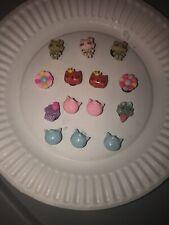 3D Hello Kitty Lot Of 14 Crocs Shoe,Bracelet & Lace Adapter Charms,Jibbitz