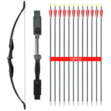 "30/40lb Archery 57"" Takedown Recurve Bow 12x Arrows Adult Beginner Training"