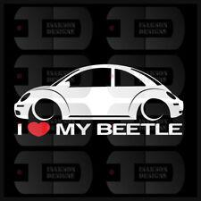 I Heart My Beetle Sticker Love VW Volkswagen Slammed Euro Germany New NB Bug