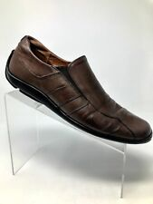 cb00f6ec49133 Sketchers Brown Leather Loafer Shoe Moc Toe Driving Slip On Men 9 B
