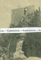 Burgruine Rabenstein  - Gesamtansicht -  um 1920           W 16-12