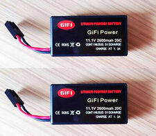2 x 2600mAh 11.1v big Upgrade LiPo Battery Batteries For Parrot AR Drone 2.0